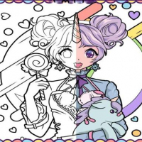 Anime Girls Coloring Book: Pop Manga Coloring Online