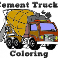 Cement Trucks Coloring Online