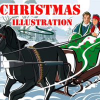 Christmas Illustration Puzzle  Online