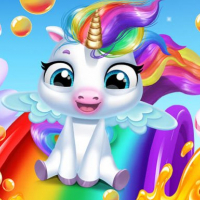 Glitter Unicorn Dress Up Girls Online