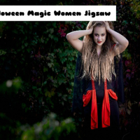 Halloween Magic Women Jigsaw Online