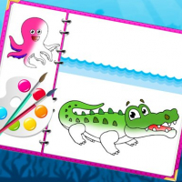 Sea Creatures Coloring Book Online