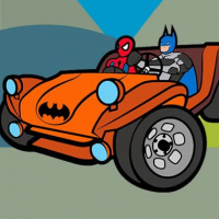 Superhero Cars Coloring Book Online